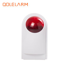 433Mhz wireless outdoor strobe siren with flash light, 110db,outdoor alarm siren with strobe KI-D016