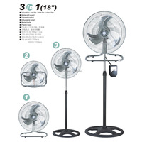 "18 ""Air cooling industrial Copper motor 3 in 1 stand fan made in China"