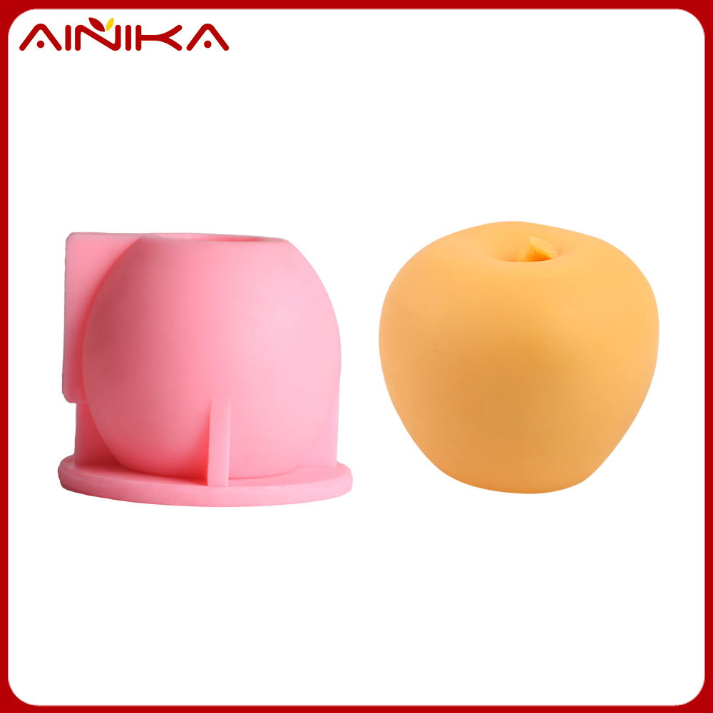 3D apple shape chocolate diy cake decorating silicone molds
