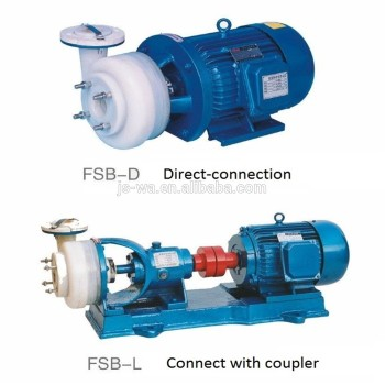 Direct connection FSB-L type PVC PP PVDF anti-corrosive chemical pump for mechanical seal