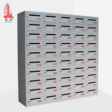 stainless steel office post letter box 50 compartment wall mounted mailbox