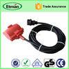 Retractable power male to male electric extension cord