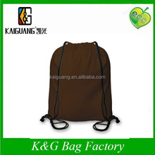 Chocolate cotton Drawstring Duffel Bag 40x45cm, 2015 Brazil fashion backpack