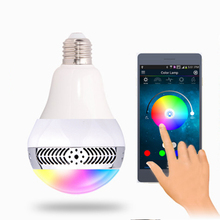Newest led music speaker smart e27 led bulb light controlled via smart phone APP