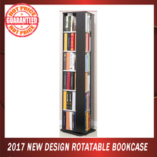 2017 new simple design narrow tall wood bookcase