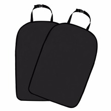 Car seat back protector (2 pieces), car seat protection, dirt-repellent, black