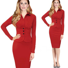 F40215A 2017 Hot sale casual pictures office women dress for ladies