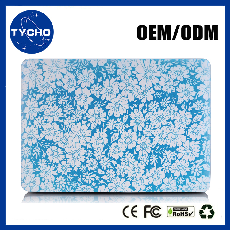 Fashion Gift For Girls Crystal Clear Print Flower Lace Laptop Case For Apple MacBook Pro 15 Retina Air 11 13 Sublimation Cover