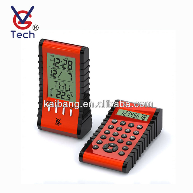 Calculator Function Digital LCD Alarm Clock