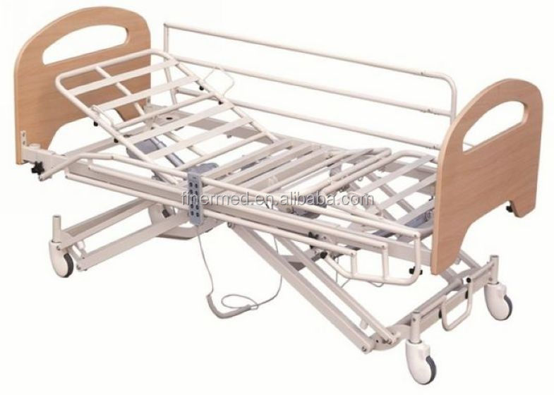 Electrical Nursing Home Bed With Collapsible Side Rails