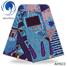 LIULANZHI Fast shipping African Wax Print Fabric for Dresses African Fabric Real Wax Print Patchwork AH920-AH927