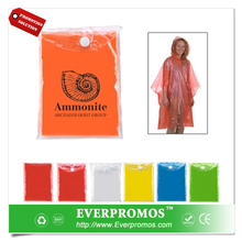Adult Printed disposable rain poncho