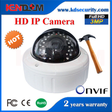 Vandalproof & Waterproof IP Dome Camera Outdoor H.265 3 Megapixel Network Camera with mini ptz speed dome camera