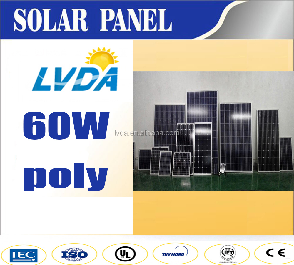 60w poly solar panel 820*540*30mm in japan market Good quality best price