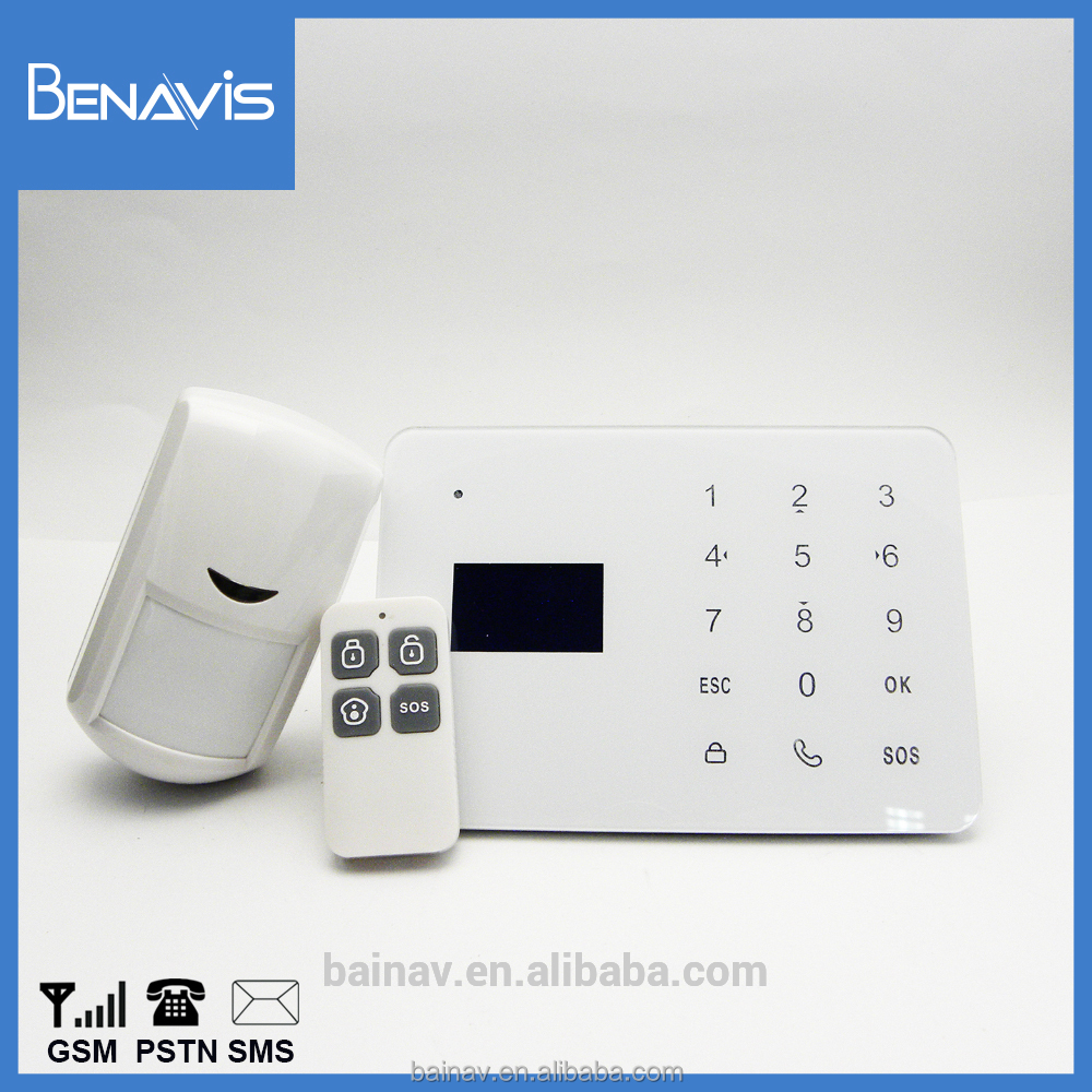 Safety Wireless Gsm Security Alarm Manual With Motion Gate Alarm