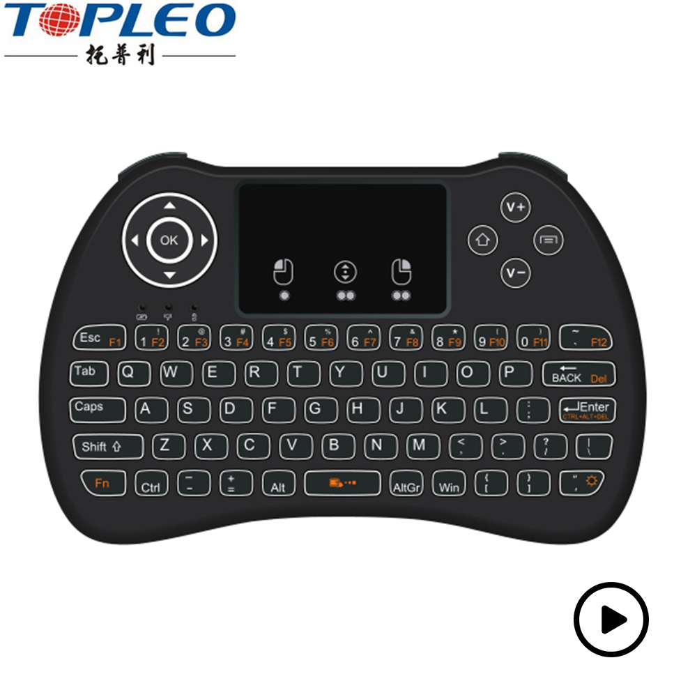 Wireless Mini Air Mouse Backlit Touchpad the keyboard H9