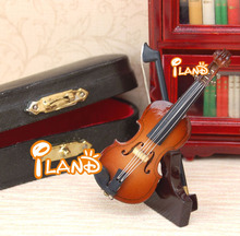 Dolls house music instrument mini violin model HE007