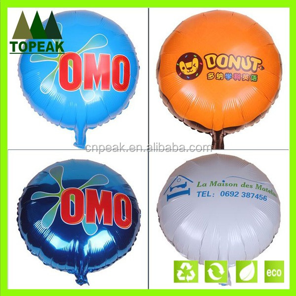Custom Printed inflatable balloon advertising Aluminum Foil Ballons