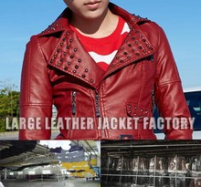 custom wholesale petite pu leather jacket mens leather jackets with stand up collar with turn collar