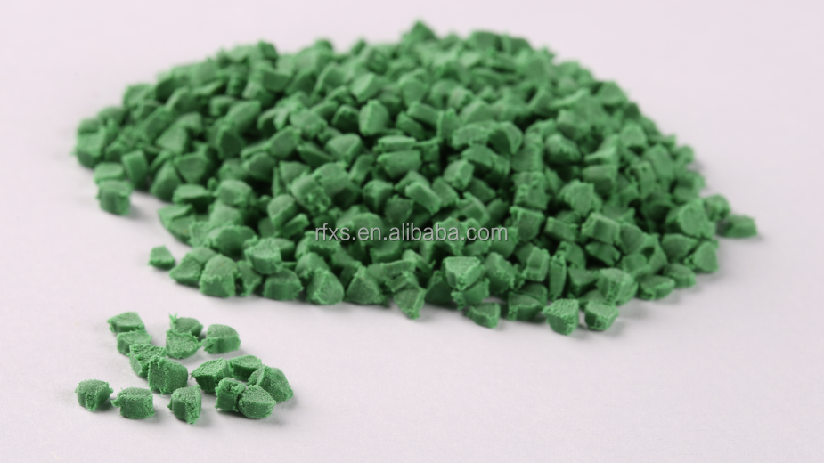 Triangle shape!Eco-Friendly Odorless TPE Rubber granule for Runway / Artificial grass /Playground