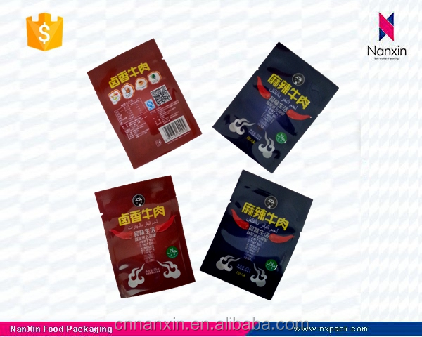 resealable beef jerky packaging sachet