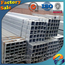 2016 ASTM Standard Hot Dipped Zinc Coating ERW Square Q345 Steel Piping from ZeHao