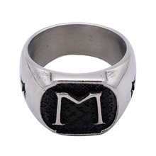 New Fashion Letter M Characters Stainless Steel Ring