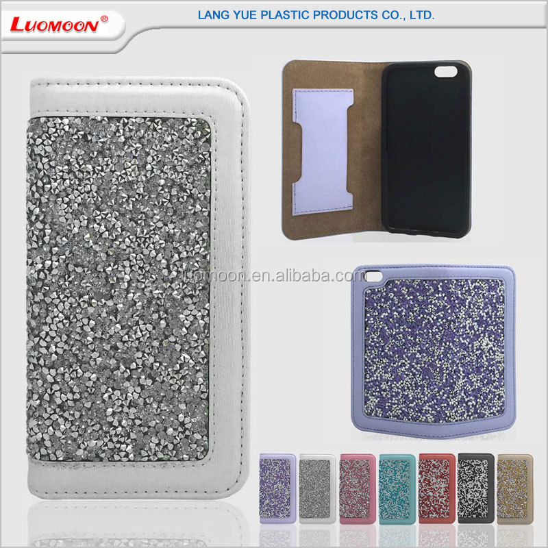 with card slot diamond pu leather case for lenovo a5000 k3 note k5