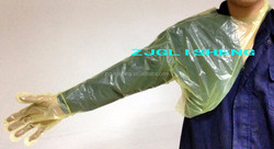 PE Transparent Veterinary Long Gloves\ Shoulder Protect Veterinary Gloves