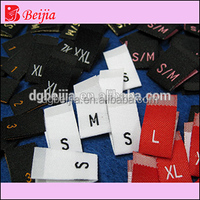 Environmental brand woven label tag for foreign trading garments cotton clothes neck