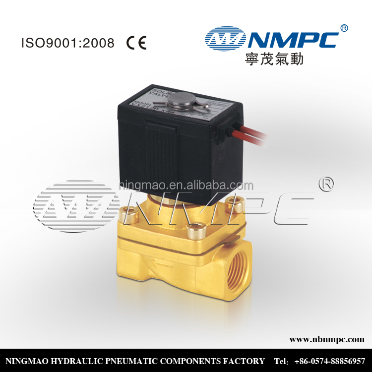 VX series brass normal close two way solenoid valve control valve price