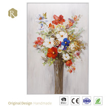 Hot Selling High Quality Rose Flower Oil Painting How Hall Room Decor