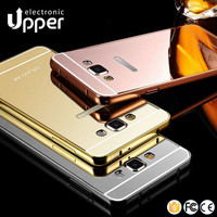 Aluminum mirror metal bumper back case cover for Samsung galaxy s3 i9300 a7 a8 j5 j7 e5 e7