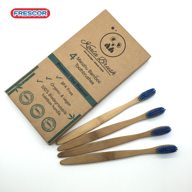 Custom Logo Color Wholesale Natural Bamboo Toothbrush