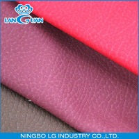 Upholstery PU Synthetic Leather Fabric For