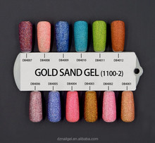 Beauty Gold Sand Gel,Fashion 2016 Nail Polish,UV Gel Polish