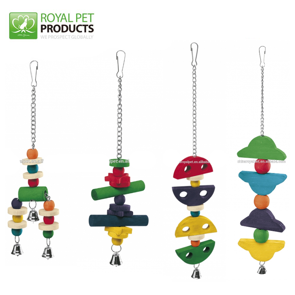 Customized Colorful Wooden Bird Parrot Toys