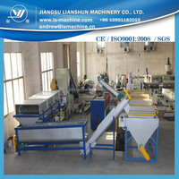 1000kg per hour plastic film washing and recycling line making plant
