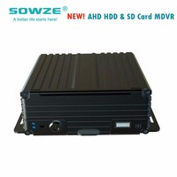 Sowze New style 4ch ahd 3g wifi gps mobile dvr with sd card & hdd storage