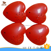 custom good quality red heart shape voice recording box