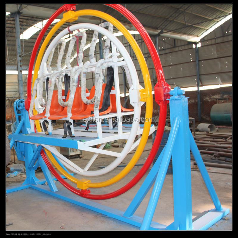 theme park rids electric 6 persons human gyroscope