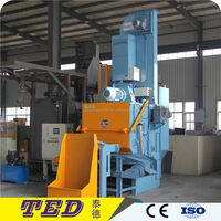 hydraulic Continuous feed tumble rubber belt shot blasting Machine