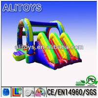 AliToys! 2013 hot selling and factory price Two way of the combination of trampoline inflatable combo