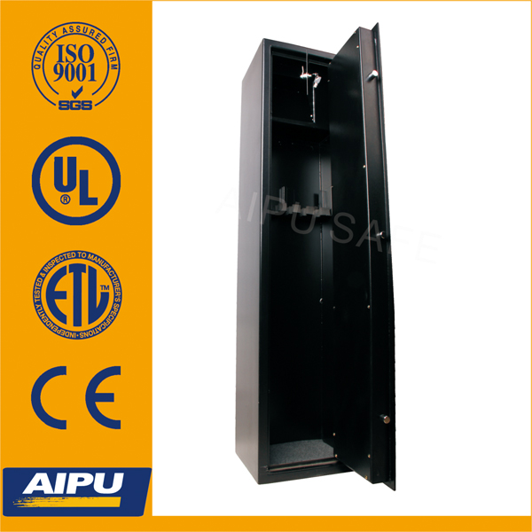 Gun safe wholesale with 5 gun cabinet MG5714K-3/6 inner ammo box with mechanical double bitted key lock/gun safe wholesale