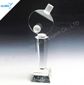 Wholesale Crystal Trophy Ping -Pong Ball Match For Competition Events