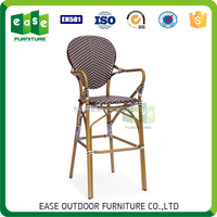 all season outdoor garden furniture stacking rattan bar chairs -E3011