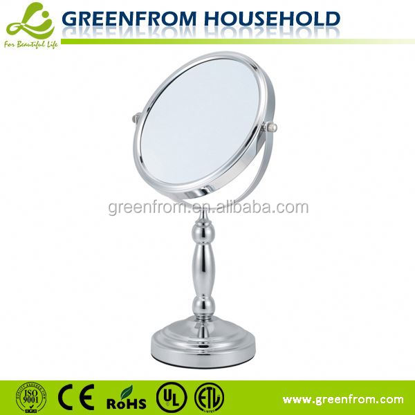 Table style makeup mirror safety mirror with vinyl back cat ii