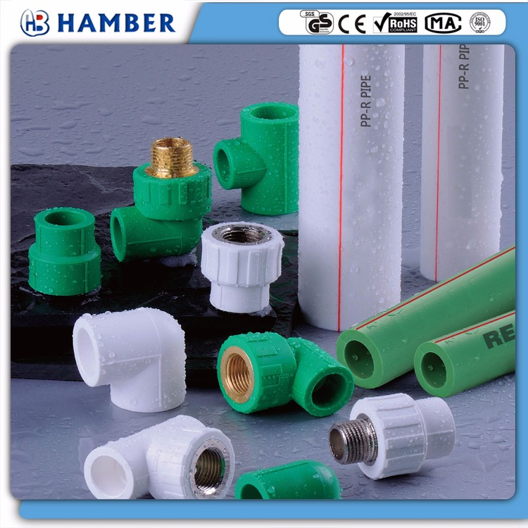 wholesale ppr fitting male thread tee plastic drum plug female & male threaded coupling