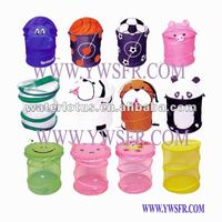 fanny animal design cartoon mesh laundry basket kids pop up storage hamper
