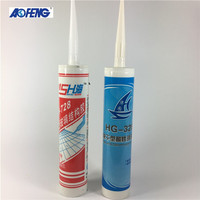 Eco-Friendly clear color construction acetic white glass silicone sealant